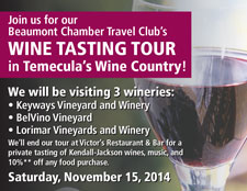 Wine Tasting Tour ad